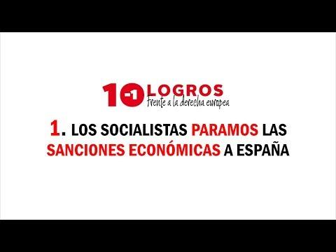 #10LogrosSocialistasUE: paramos las sanciones económicas a España