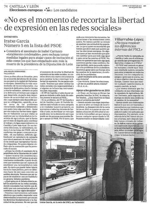 2014-05-10 Entrevista Iratxe en ABC