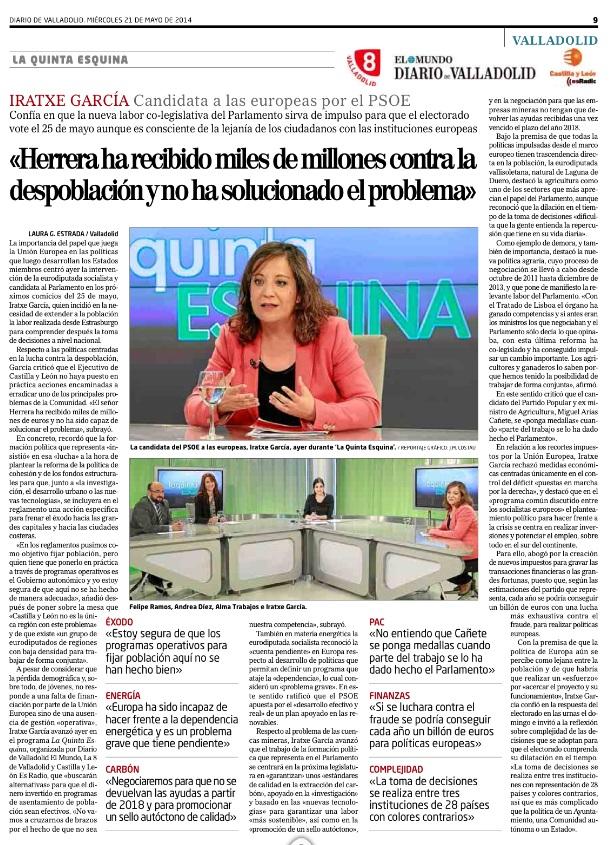 2014-05-21 Entrevista Iratxe en El Mundo