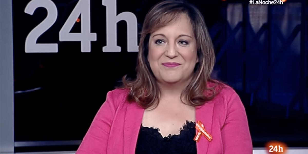 Iratxe García en La noche en 24 horas de RTVE el día 14 de junio de 2018